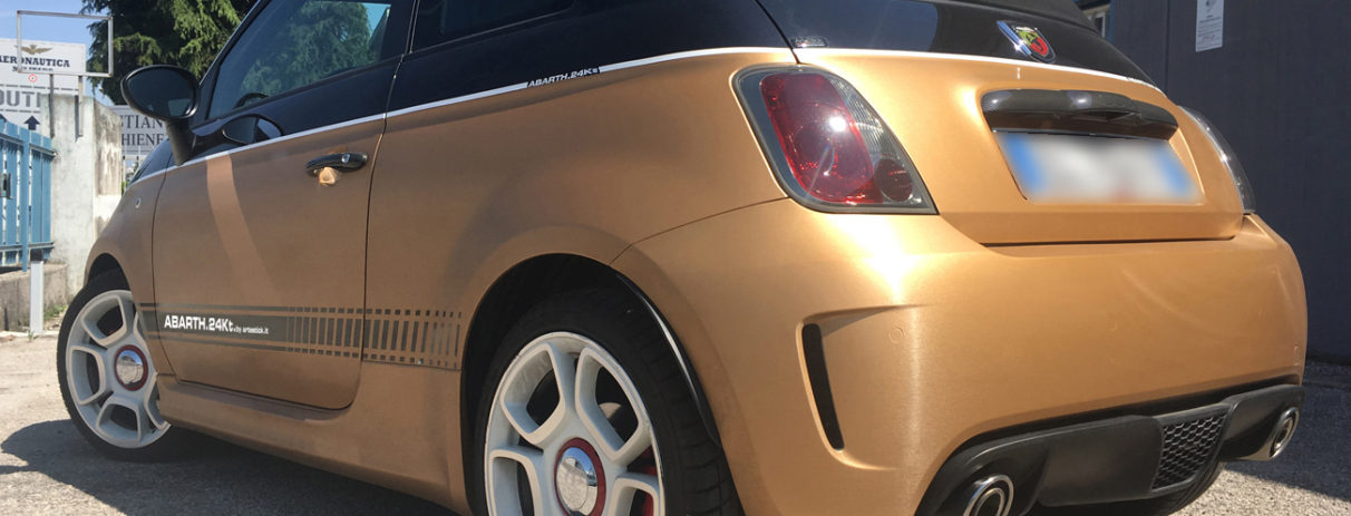 Abarth 500 24 Kt edition Avery SWF supreme wrapping film