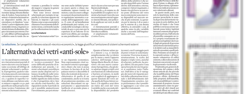 Articolo_Il_Sole_24_Ore_Pellicole_Filtranti