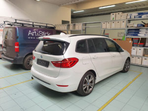 BMW 2 active tourer  pellicola oscurata gradazione 20 thiene vicenza