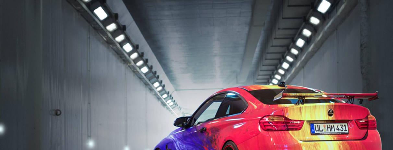 BMW M4 wrappata by Hamann al Salone di Ginevra 2015
