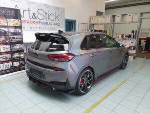 Car wrapping fari oscurati cromature hyundai i30n tetto specchietti carbonio