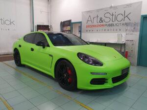 Car wrapping vetri oscurati fari cromature Porsche Panamera