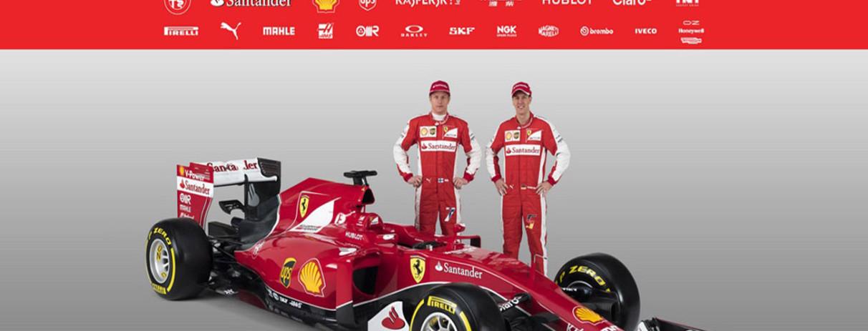 Decorazione Ferrari SF15-T in timelaps