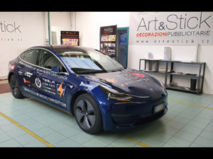 Decorazione Tesla model 3 Tesla Arctic Expedition adesivi