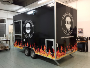 Decorazione carrello da street food thiene vicenza