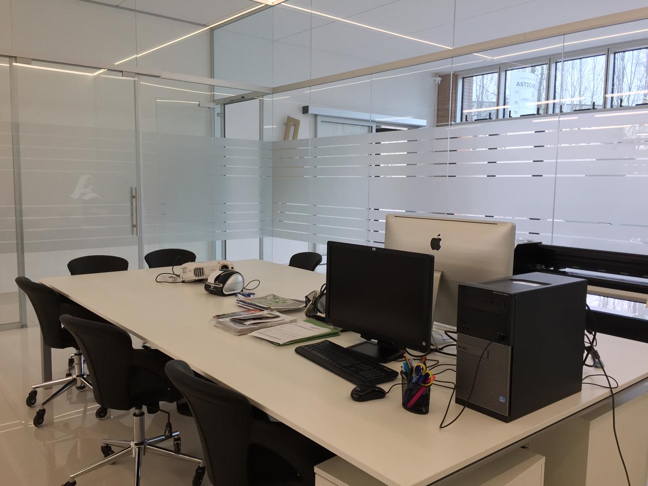 Decorazione interno uffici con adesivi effetto smerigliato - Blog decorazione interni ...
