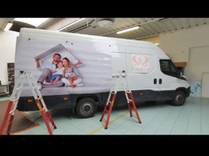 Decorazione furgone adesivi cast car wrapping stampati protettivo prespaziati omega canale