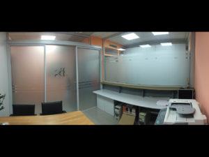 Decorazione interni ufficio pellicole intagliate effetto smerigliato