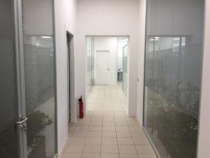 Decorazione-interni-ufficio-pellicole-intagliate-effetto-smerigliato millerighe 2