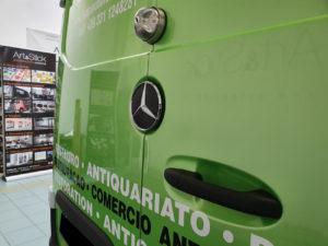 Decorazione mercedes sprinter pellicola cast verde metallizzato car wrapping prespaziati