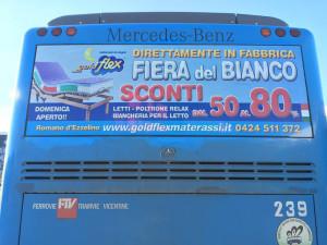 Decorazione pullman di linea SVT FTV Cartel pubblicità