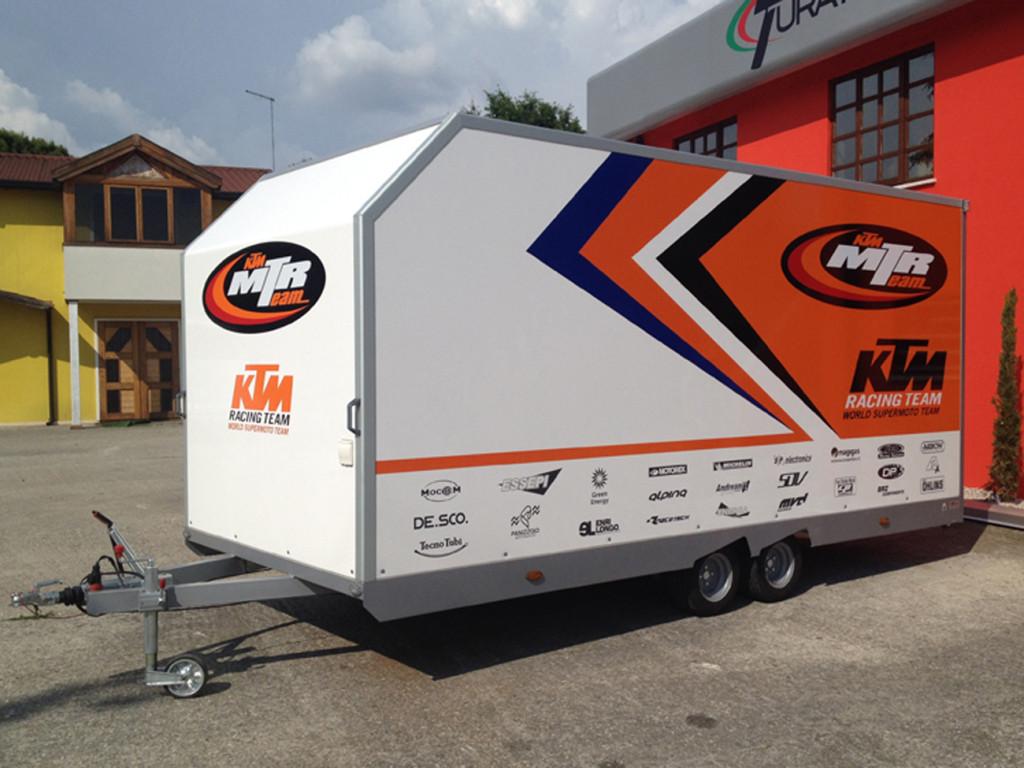 RIMORCHIO PORTA MOTO KTM decorazione per il mondiale supermotard