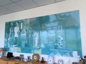 Decorazione tabelle adesivo stampato digitale ecosolvente grande formato pietribiasi marano