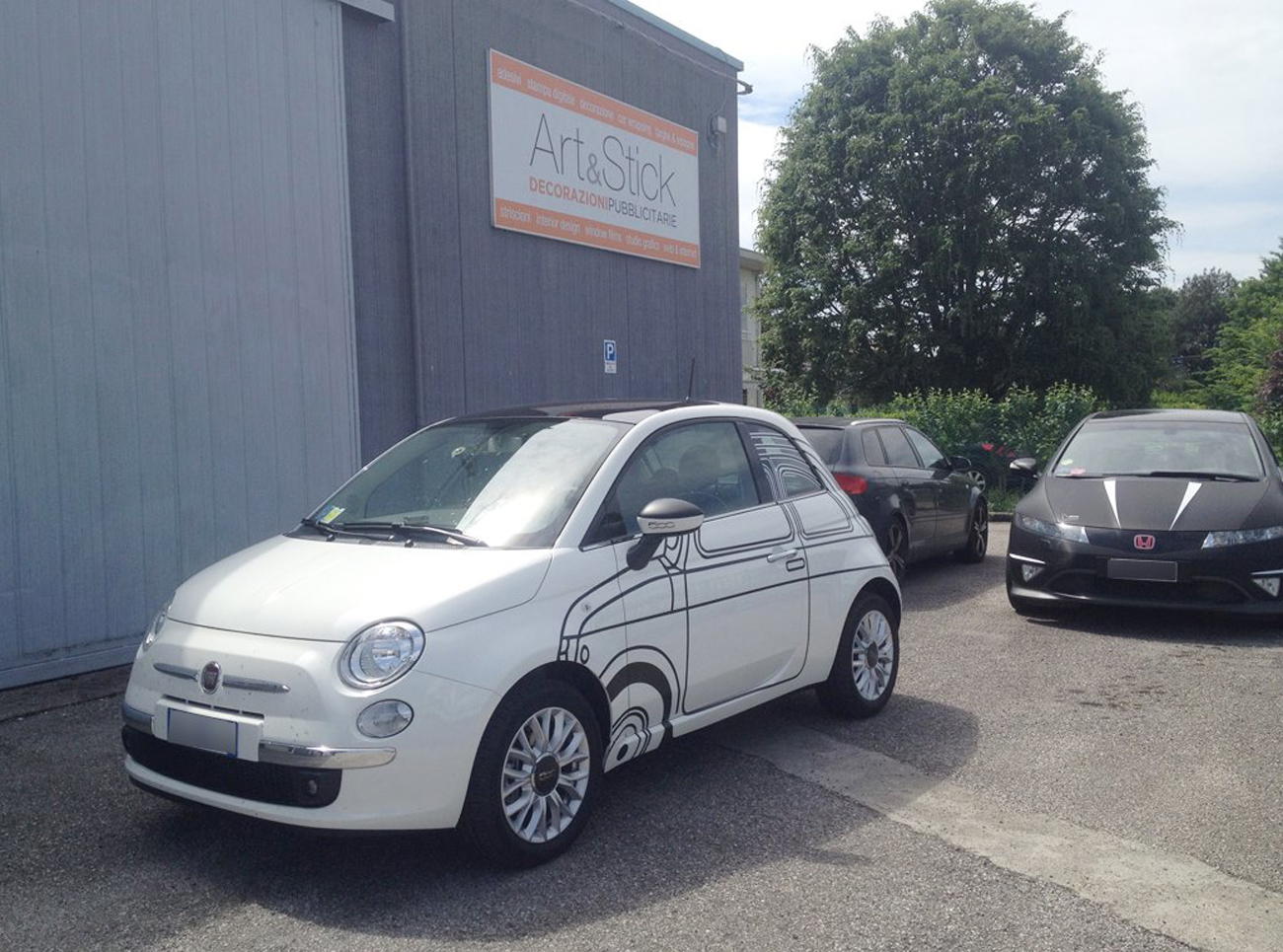 fiat 500 decorazione replica 500 ron arad edition art