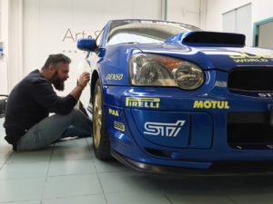 Allestimento Subaru Impreza con livrea WRC