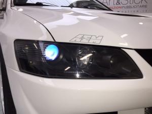 Mitsubishi-Lancer-evo-protettivo-trasparente-Bodyfence-fanali-anteriori-andrea-garaje