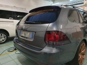 Oscuramento-protezione-fari-pellicola-oscurante volkswagen golf posteriori