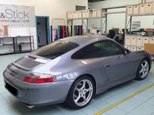 Porsche 911 con pellicola oscurata gradazione 35 thiene vicenza