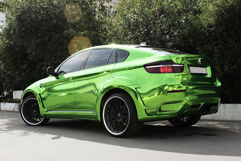 Re Styling Hamann Bmw X6 Wrapping Totale Verde Cromato 3