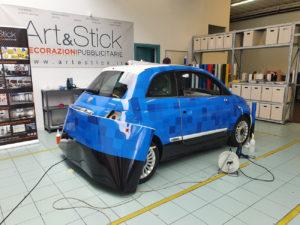 Rivestimento completo fiat 500 pellicola cast car wrapping stampata laminata fai zane