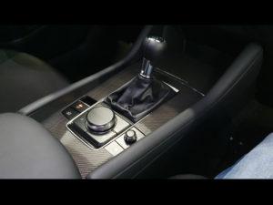 Rivestimento interni Mazda 3 pellicola effetto carbonio lucido