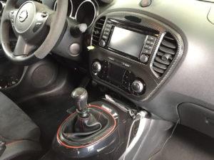 Rivestimento interni Nissan Juke nismo pellicola effetto carbonio 3d
