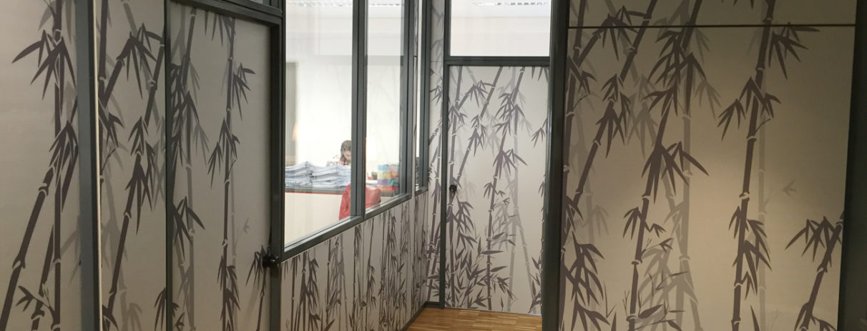 Rivestimento pareti interne stampe digitali interior design decoration bamboo