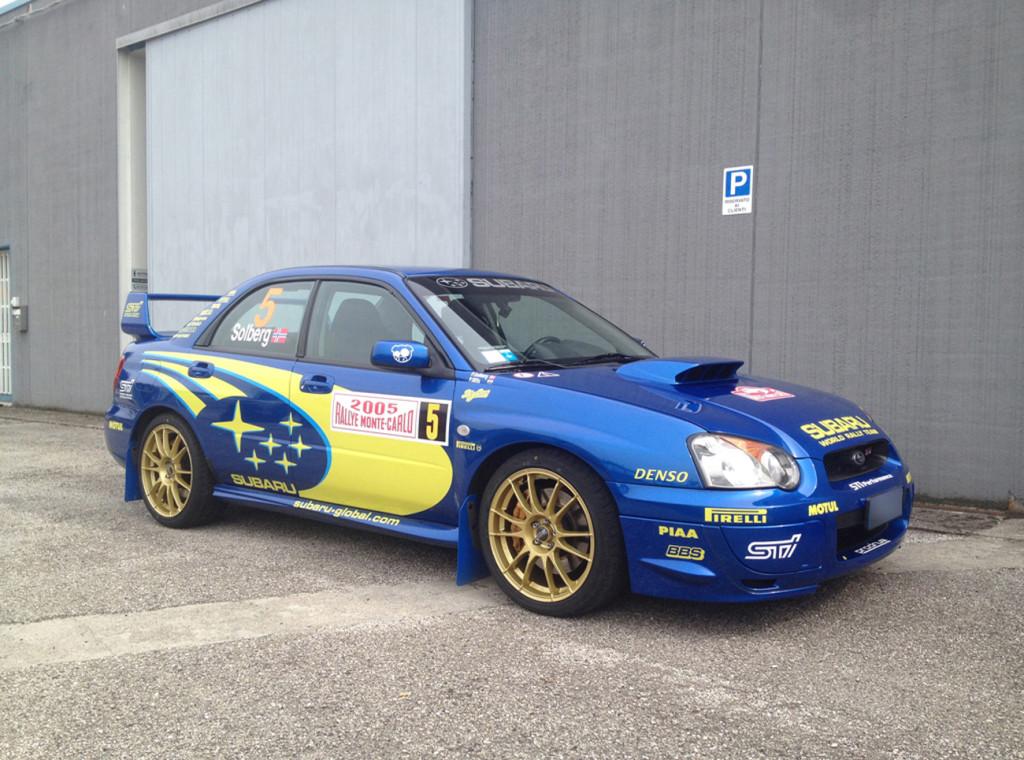 SUBARU IMPREZA WRX Sti - decorazione kit adesivi replica livrea WRC Montecarlo 2005