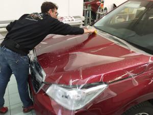 Subaru Forester applicazione protettivo trasparente Bodyfence e oscuramento vetri 3