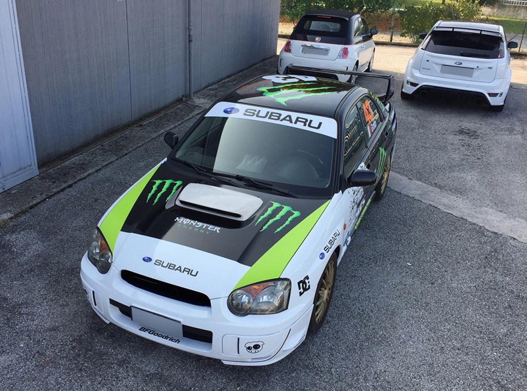 Subaru Impreza con livrea replica Ken Block