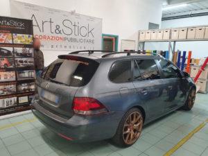 Volkswagen Golf sw con pellicola oscurata gradazione 15 e 35 thiene vicenza
