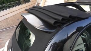 abarth 500 C spoiler nero carbonio wrapping