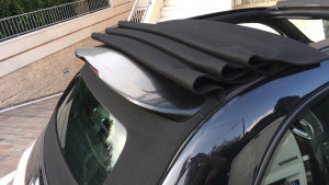abarth 500 C spoiler nero carbonio wrapping