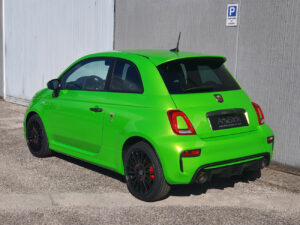 abarth 595 500 car wrapping hexis verde wasabi green gloss 2