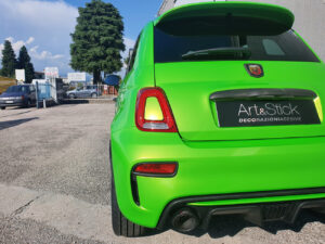 abarth 595 500 car wrapping hexis verde wasabi green gloss