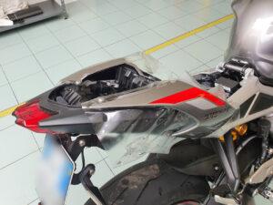 applicazione protettivo trasparente bodyfence carene serbatoio fari moto triumph speed triple
