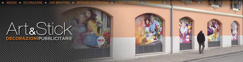 artestick decorazione vetrine stampe digitali nkd