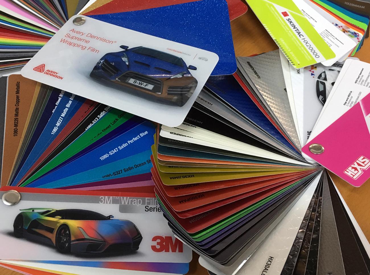 i colori delle pellicole da car wrapping