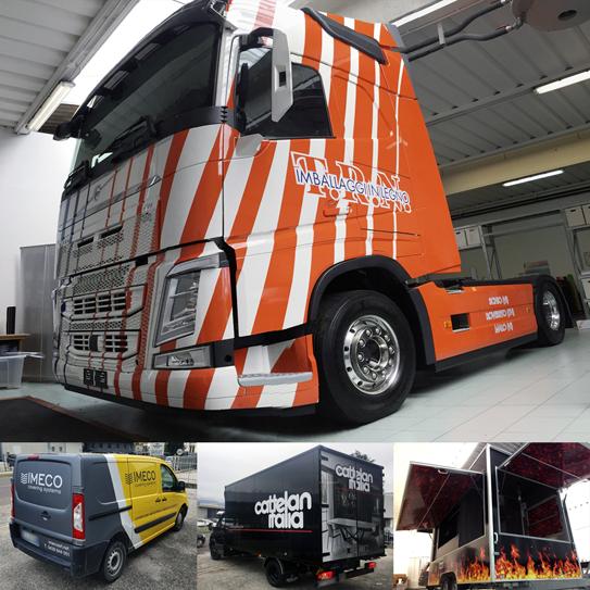 automezzi pubblicitari decorazione camion furgoni auto thiene vicenza