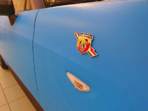 car wrapping Abarth 124 pellicola 3M 2080 Matte Riviera Blue grigio antracite opaco