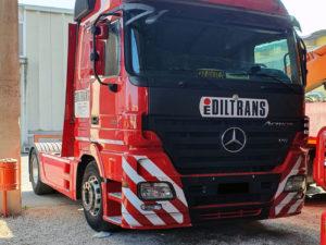 decorazione camion mercedes ediltrans