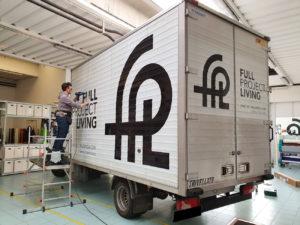 decorazione furgone aziendale prespaziati FPL
