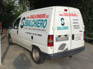 decorazione furgone scudo sbalchiero