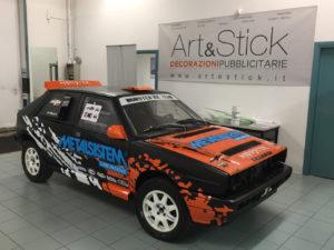 decorazione lancia delta rally adesivi sponsor