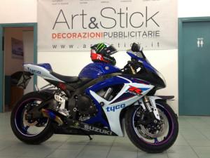 decorazione suzuki GSX-R 600 e casco replica Jorge Lorenzo