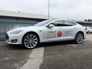 decorazione tesla model s club italy artestick