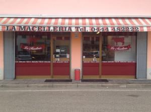 decorazione vetrine negozio macelleria