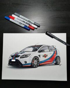 ford focus rs mk2 martini racing galantina design