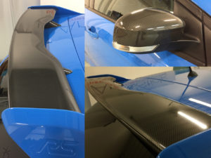 ford focus rs mk3 wrapping dettagli carbonio lucido carbon gloss