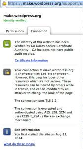 google chrome yellow padlock